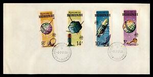 DR WHO 1965 BURUNDI FDC SPACE INTL TELECOMMUNICATION UNION C239029