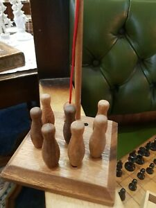 Lagoon Games Traditional Pub Games Bar Skittles Wooden Game boxed