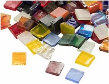 Mosaic Tiles - 1000-Pack Glass Mosaic Pieces, Mosaic Chips, Stained Glass Mosaic
