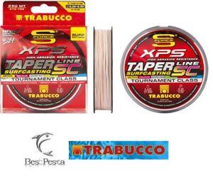 TRABUCCO TAPER LINE SC 250mt 0,23-0,57 - filo multicolor con shock leader