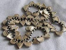 "36"" Str  Antique Ethiopian Tribal Ethnic Silver Telsum Prayer Boxes Beads"