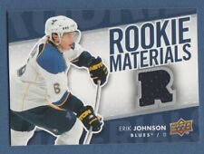 ERIK JOHNSON 2007-08 Upper Deck JERSEY Rookie Materials #RM-EJ Blues 07-08*
