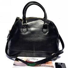 New Women's Genuine Leather Handbag Shoulder Tote Bag Shopper strap black 3676