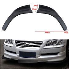 2x Winglet Style Carbon Fiber Car Auto Front Bumper Lip Diffuser Splitter Canard