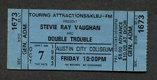 Early 1983 Stevie Ray Vaughan Unused Concert Ticket Austin Texas Flood  RARE