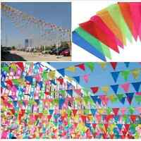 10M Colorful Happy Birthday Flags /Bunting Dessert Party Table Decor h8