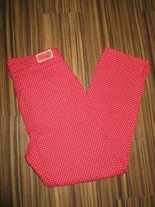 TONI Dress Super Slim Stretch 3/4 Hose Gr.38 rot mit Punkten Annabel