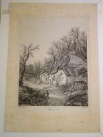 Eugène BLERY 1805-1887 GRAVURE PAYSAGE VALLEE CHEVREUSE BARBIZON CHARLES MERYON