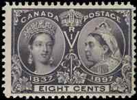 Canada #56 mint F-VF OG DG 1897 Queen Victoria 8c dark violet Diamond Jubilee