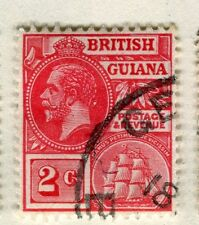 BRITISH GUIANA; 1913-21 early GV issue fine used 2c. value, shade