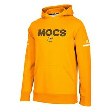 Chattanooga Mocs NCAA Adidas Men's 2018 Sideline Gold Squad Pullover Hoodie