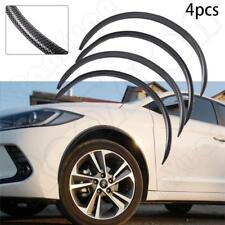 4× Car Fender Flares Arch Truck Wheel Trims Protector Eyebrow Strip Carbon Fiber