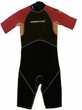 KIDS INDIGO SHORTY WETSUIT TITANIUM SURF SWIM WET SUIT SIZE JUNIOR XL (7)