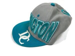 City Hunter Washington DC Hat Baseball Cap Turquoise Teal & White