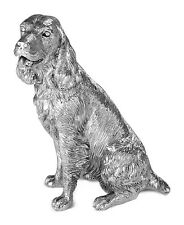 Hallmarked Sterling Silver Harrison Brothers Sringer Spaniel Dog Sculpture 9394