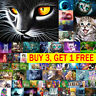 5D DIY Full Drill Round Diamond Painting Animal Embroidery Kits Art Gift Wall