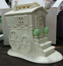 Department 56 Snow Bunnies lighted Porcelain Woodland Wagon. New in box