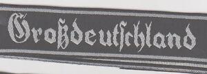 German Army Gross Deutschland Title Bevo cuff title arm insignia