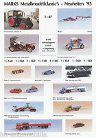 1001MAR Marks Modellautos Prospekt 1993 brochure model cars prospectus catalog