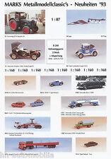 Prospekt Marks Modellautos 1993 brochure model cars prospectus catalog