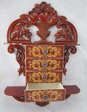 Wandkonsole Wandregal Schubladenschrank vintage  Schmuckkasten Wanddeko 45x32x8
