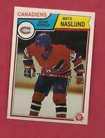 RARE 1983-84 OPC # 193 CANADIENS MATS NASLUND PRINTING RED FACE ERROR  RC CARD