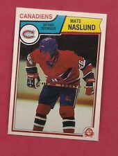 RARE 1983-84 OPC # 193 CANADIENS MATS NASLUND PRINTING RED FACE ERROR  RC CARD
