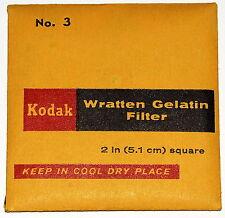 """Kodak Wratten 3 (aka Aero 1) Gelatin 2"""" x 2"""" (50mm) Square Filter NEW UNOPENED!!"""