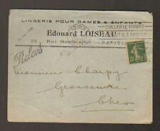 """PARIS (II°) LINGERIE pour DAMES & ENFANTS """"Edouard LOISEAU"""" 1918"""