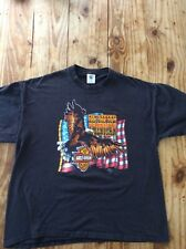 HARLEY DAVIDSON XL Emblem 1982 T Shirt Proud to be an American 1 Stitch USA