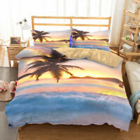 3D Ocean Beach Sunshine Bedding Set Duvet Cover Comforter Cover Set Pillowcases