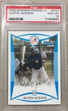 2008 Bowman Prospects #BP50 Austin Jackson RC Rookie PSA 10 Gem Mint FREE SHIP