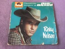"DISQUE 45T DE RICKY NELSON  "" RESTLESS KID "" (b3)"