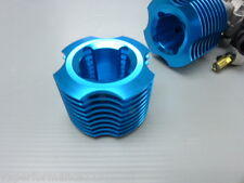 CY VERTEX VX 25 CXP Blue Anodised Cooling Head Nitro Engine HSP Himoto Redcat