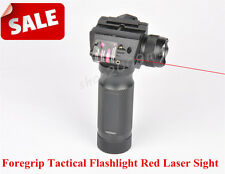 Vertical Combo Foregrip CREE LED Flashlight W/ Red Dot Laser Sight Hunting Rifle
