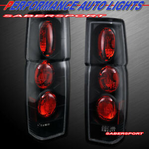 Set of Pair Black Altezza Style Taillights for 1986-1997 Nissan Hardbody Pickup