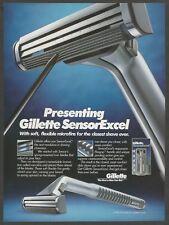 Gillette SensorExcel razor     - 1995 Print Ad