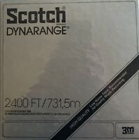 "2400 FT Scotch 213 Dynarange Tape Reel to Reel NEW SEALED, + Spare ""TakeUp"" Reel"
