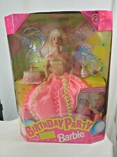 Birthday Party Barbie Doll 1998 NRFB can blow up balloons NIB Mattel Collectible