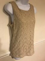 Banana Republic Lace Sleeveless Blouse Top Madmen Collection Size Small Ivory