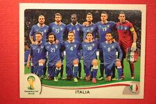 Panini BRASIL 2014 N. 318 TEAM ITALIA WITH BLACK BACK TOPMINT!!