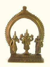 Vintage South Indian Hindu God Thirupathi Venkateswara Brass Statue G53-680 US