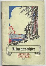 Vintage Guidebook Kinross shire 1930s