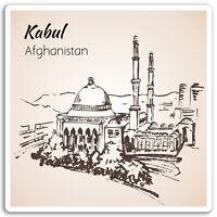 2 x 10cm Kabul Afghanistan Vinyl Stickers - Travel Sticker Laptop Luggage #17077