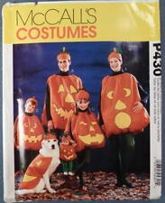 NOS McCall's Costume Pattern P430 Jack-O-Lantern New Old Stock