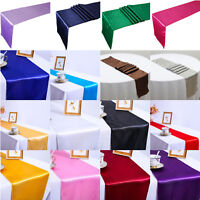 Satin Table Runner Long Cloth Chair Banquet Party Wedding Dinner Venue Decor