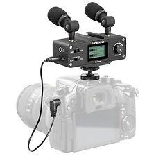Saramonic CaMixer Dual Stereo Microphone / Mixer for Canon EOS Nikon DSLR Camera