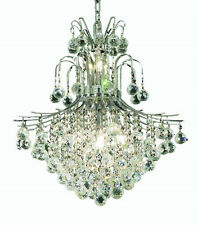 "World Crystal contour 22"" 11 light Dining Crystal Chandelier Light  Chrome"