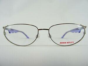 MISS SIXTY Damenbrille Markengestell silber-lila oval Cateys Vintage neu Gr. M