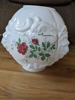 Vintage Lion Head Floral Milk Glass Replacement GWTW Globe Light Lampshade